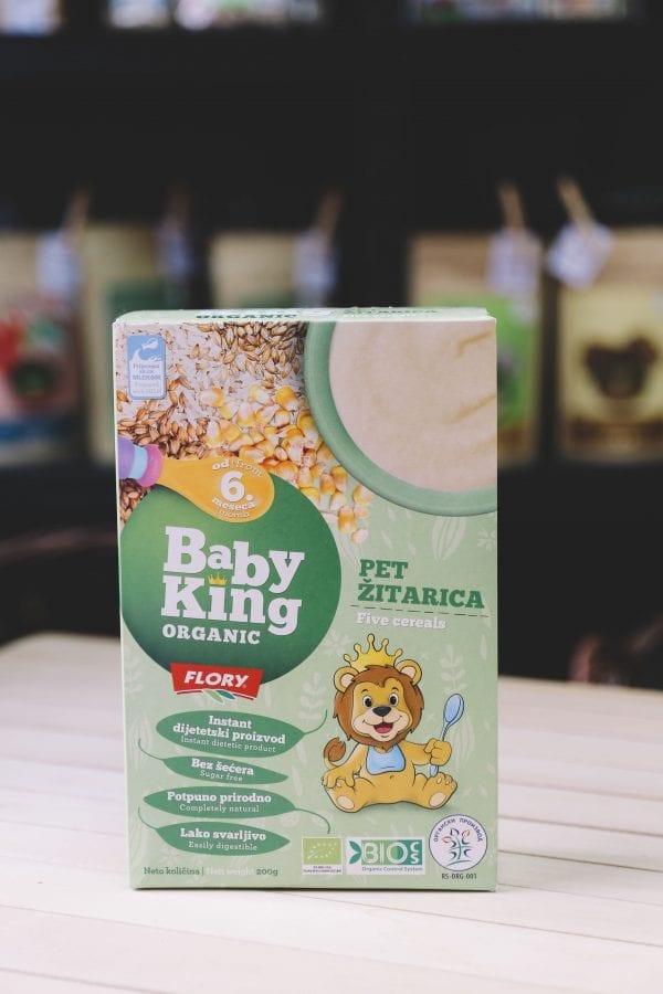 Baby king 5 žitarica organic 200g