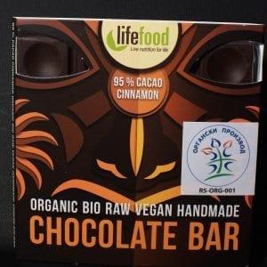 Čokolada 95% kakao cimet 35g