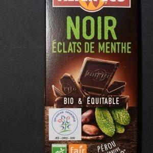 Crna čokolada sa komadoćima mente 100g