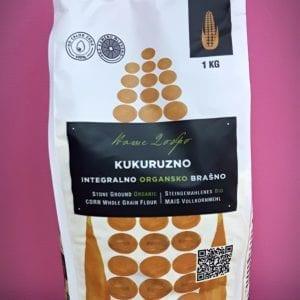 Kukuruzno integralno brašno 1kg - organik Ecoagri