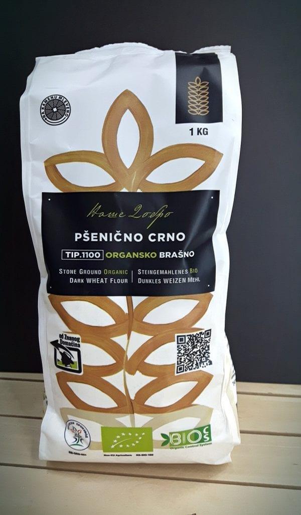Pšenično crno organsko brašno tip 1100 Ecoagri 1kg