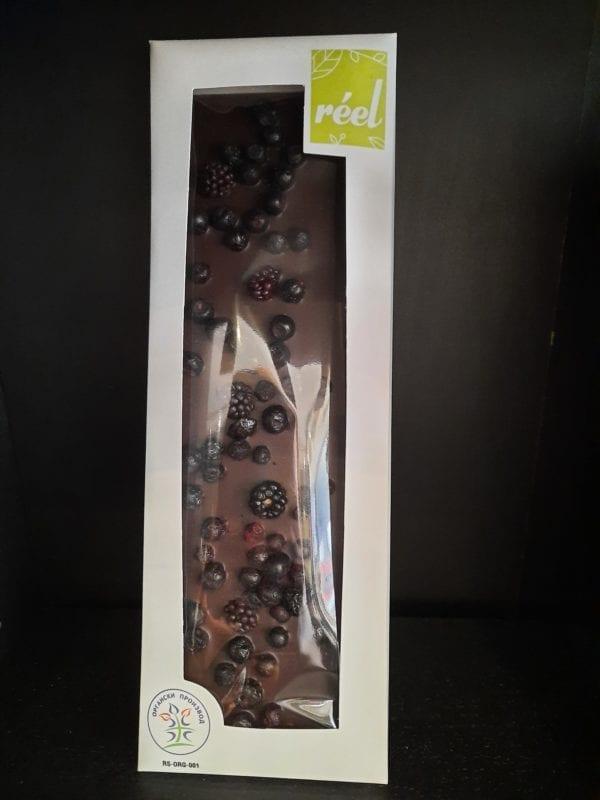 Tamna čokolada sa divljom kupinom i borovnicom